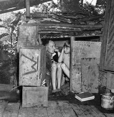 Father and son internees take cover in a makeshift shelter they constructed during the Japanese shelling of Santo Tomas, Manila, Philippines, Feb. 1945 [[MORE]] –em: Santo Tomas internees were. University Of Santo Tomas, Bataan Death March, The Shanty, Heinrich Heine, Nurses Station, Asian History, American War, Lest We Forget, Photos Du