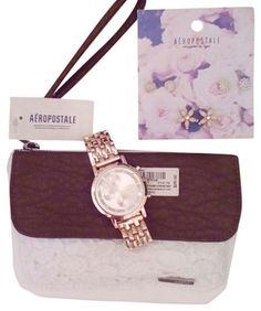 Aeropostale  watch and wristlet wallet free accessories $38 free shipping -$59 value