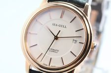 NEW SEA-GULL M201SG Rose Gold Ultra-Thin Automatic Mechanical Watch