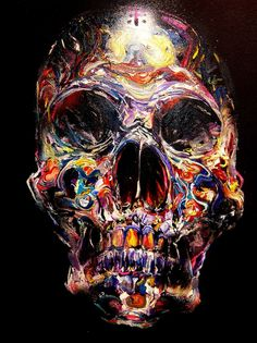 pussycatclaws: artist David Choe is a badass. David Choe, Crane, Street Art, Urbane Kunst, Skeleton Art, Skulls And Roses, Crystal Skull, Skull Art, Urban Art