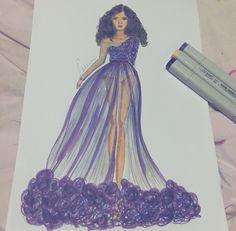 #fashionsketch #fashionillustration  #fashionillustrator #copicmarkers #promarker #copic #turkey #prints #drawing #fashion #happy #amateurdrawings #beginner #purple #mei.