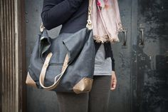 MADESMITH || Fold-Over City Tote  By Flux Productions