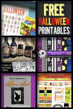 FREE Halloween Printables!  #howdoesshe #halloweenprintables #halloweenpartyideas howdoesshe.com