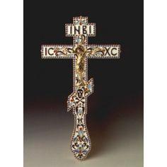 Blessing Cross enameled gold plated Blessing, Silver Plate, Plating, Enamel, Symbols, Gold, Vitreous Enamel, Silverware Tray, Enamels