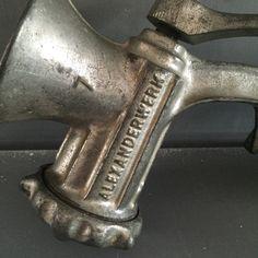 Een persoonlijke favoriet uit mijn Etsy shop https://www.etsy.com/listing/292501799/vintage-meat-grinder-alexanderwerk-no-7