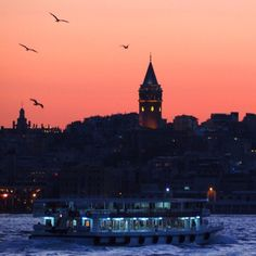 Sailing in the Golden Horn at the sunset. Places Around The World, Around The Worlds, Places To Travel, Places To Visit, Mein Land, Golden Horn, Turkey Photos, City Landscape, Istanbul Turkey