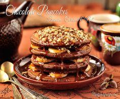 Chocolate Pancakes Banana Caramel and Nut by Thinkarete, via Flickr