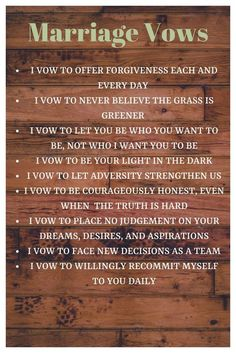 Marriage Advice Marriage Vows marriage ideamarriage idea things to do Marriage Vows, Marriage Relationship, Happy Marriage, Love And Marriage, Quotes Marriage, Healthy Marriage, Successful Marriage, Healthy Relationships, Marriage Promises
