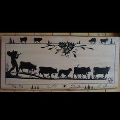 poya , savoie , savoyard , peinture , création sur bois , création sur fer Paper Cutting, Scroll Saw, Kirigami, Amish, Decoupage, Moose Art, Illustration Art, Painting, Stamp