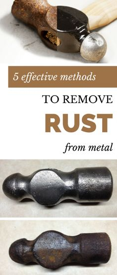 Here are 5 effective methods to remove rust from metal. #woodworkingtools