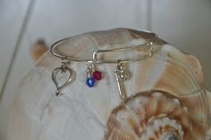 Expandable Alex and Ani type bracelet with Softball by SeaglassI, $15.95