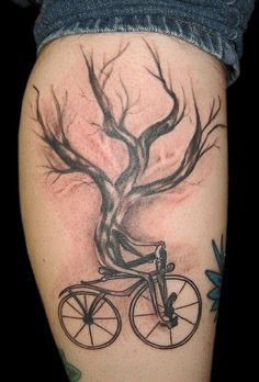Bicycling tree #tattoos #bike