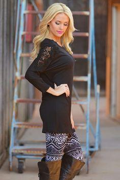 Crochet My Way Tunic - Black