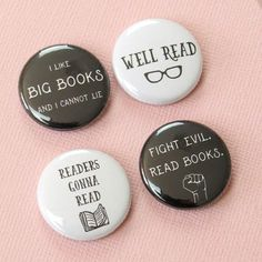 #Reader Button Badges #BookishGifts WritersRelief.com