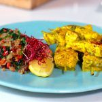 Fish Kebabs with Ginger & Sumac Fish And Seafood, Turmeric, Zucchini, Cooking Recipes, Rice, Meat, Chicken, Vegetables, Kebabs