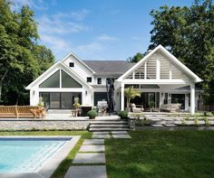 Bright and airy contemporary farmhouse style surrounded by nature