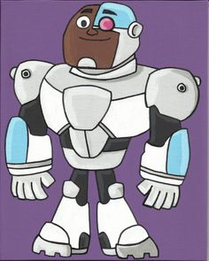 Cyborg from Teen Titans Go by EcholynnesEtchings on Etsy