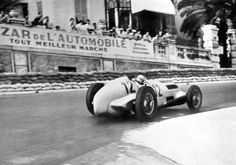This shot of 3rd placed Christian Kautz shows the rear end treatment of the Mercedes W125, Monaco 1937.
