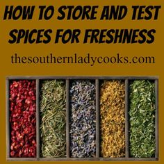 Here are some tips on how to store and test spices for freshness. Many of you probably already know how to test spices but we can always share with others that may not. I love …