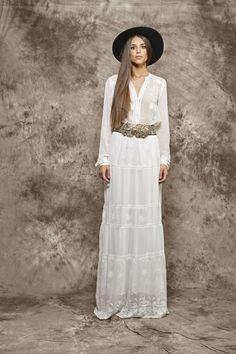 Vestido largo camisero blanco - 385,00€ : Zaitegui - Moda y ropa de marca para señora en Encartaciones