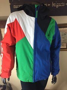 Volcom Airship Youth Boys L 10-12 Let It Storm Multicolored Hood Zip Jacket Ski  | eBay