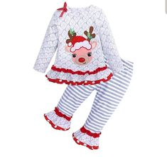 Rudolph the Red Nose Reindeer Outfit for Girls Toddler Girl Christmas Outfits, Toddler Outfits, Kids Outfits, Christmas Girls, Christmas Clothes, Christmas Ideas, Xmas, Summer Outfits Women 20s, Casual Summer Outfits