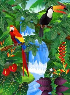 """Tropical Forest Background"" by Surya Zaidan."