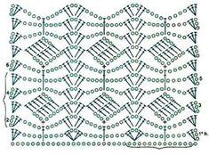Túnica em Crochê com Passo a Passo e Gráfico do Ponto - Katia Ribeiro Crochê Moda e Decoração Crochet Motif Patterns, Crochet Chart, Baby Knitting Patterns, Diy Crochet, Crochet Doilies, Crochet Flowers, Stitch Patterns, Crochet Projects, Blanket