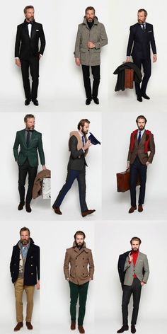 Umm HANDSOME.  I want all of these... minus the red turtleneck... for my boyfriend.