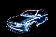 Cars. Photography. Light painting.