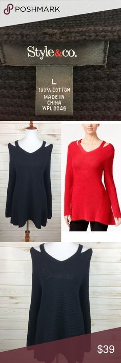 Style & Co Cold Shoulder Knit Sweater NWT - Perfect Condition - Never Worn - Very Flattering On Style & Co Sweaters
