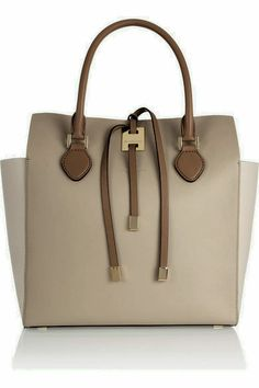 Michael kors Miranda Large Colorblock Leather Tote in Beige (White).  ErinMarie Pritchard · Bag Lady 3954a54770397