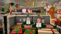 HAPPY HOLIDAYS - Me and my mum. Owner the costume shop Disfraces Cristina.  www.leondisfraces.es #disfraces #navidad #elfs #christmas #costume