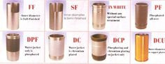 different types of our liners Cylinder Liner, Plating, It Is Finished