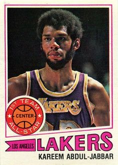 Basketball History, Basketball Legends, Love And Basketball, Sports Basketball, Basketball Cards, Basketball Players, Nba Players, Star Company, Kareem Abdul Jabbar