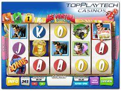 Den ulkigen Tierdetektiv Ace Ventura gibt es auch als Playtech online Slot und zwar mit 243 Gewinnwegen auf 5 Walzen. Das Spiel zeichnen seine zahlreichen Bonus Extras aus.  http://www.topplaytechcasinos.com/playtech-casino-spiele-online/ace-ventura-online-slot/