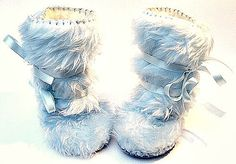 Perfect for Winter- Light Blue Fur Baby Boy Boots Mukluk Style Toddler Boots, Baby Boots, Ugg Boots, Baby Boy Gifts, Baby Shower Gifts, Shower Baby, Winter Wedding Shoes, Baby Uggs, Winter Light