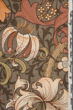 William Morris fabric and wallpaper.