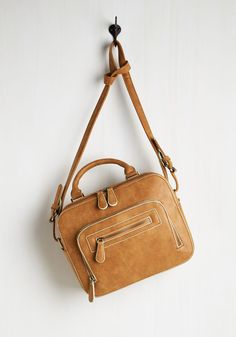 As Date Would Have It Bag. On your way to meet up with your new sweetheart, youre hopeful that the chemistry will be as flawless as your connection with this cognac bag! #brown #modcloth