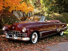 """1949 Cadillac Series 62 Convertible. Reminds me of the one Liz Taylor drove in """"A Place In The Sun""""."""