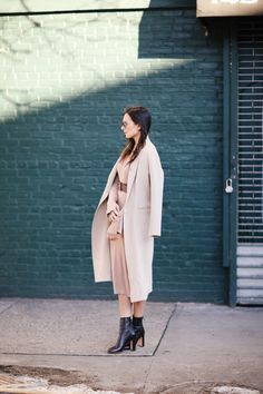 H&M dress, Sandro coat and Rochas boots #weworewhat