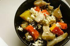 Fokhagymával sült téli zöldségek