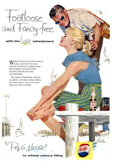 Pepsi-Cola Footloose And Fancy-Free Girl Please - Mad Men Art: The 1891-1970 Vintage Advertisement Art Collection