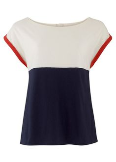 Fairtrade and organic cotten Florence Colour Block Top  made by Assisi Garments, a social enterprise in India // via People Tree