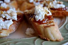 Fig jam & Goat's cheese brushetta with hazelnuts