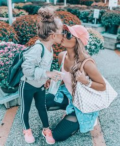 When your Mom wants a kiss but you love your Starbs too much 🤣🤷🏼♀. - When your Mom wants a kiss but you love your Starbs too much 🤣🤷🏼♀️ I'm sharing Mo - Future Mom, Future Daughter, Mommy And Me Outfits, Kids Outfits, Mom Daughter Matching Outfits, Family Outfits, My Baby Girl, Mom Style, Maternity Fashion