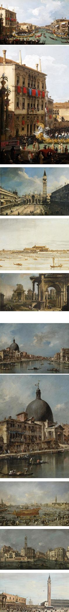 Views of Venice as portrayed by Giovanni Antonio Canal, better known as Canaletto, and Francesco Guardi