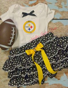 0b38cf69257 Girls Pittsburgh Steelers Cheerleader Outfit