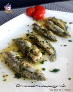 Calamari, Romanian Food, Fish And Seafood, Fish Recipes, Italian Recipes, Carne, Asparagus, Tapas, Zucchini