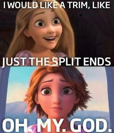 We've all had that one bad haircut... #Tangled